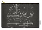 1948 Sailboat Patent Artwork - Gray Carry-all Pouch