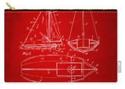 1948 Sailboat Patent Artwork - Red Carry-all Pouch