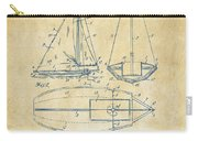 1948 Sailboat Patent Artwork - Vintage Carry-all Pouch by Nikki Marie Smith