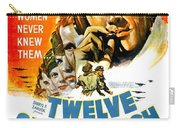 1949 - Twelve O Clock High Movie Poster - Gregory Peck - Dean Jagger - 20th Century Pictures - Color Carry-all Pouch