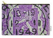 1949 Belgium Stamp - Brussels Cancelled Carry-all Pouch