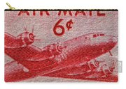 1949 Dc-4 Skymaster Air Mail Stamp Carry-all Pouch