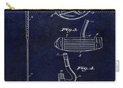 1949 Golf Putter Patent Drawing Blue Carry-all Pouch