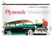 1950 - Plymouth Suburban Station Wagon Automobile Advertisement - Color Carry-all Pouch