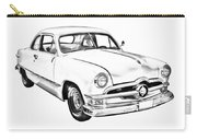 1950  Ford Custom Antique Car Illustration Carry-all Pouch