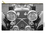 1950 Jaguar Xk120 Roadster Grille -0260bw Carry-all Pouch