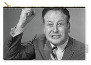 1950s 1960s Portrait Of Angry Man Carry-all Pouch