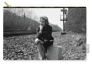 1950s 1960s Woman Sad Worried Facial Carry-all Pouch