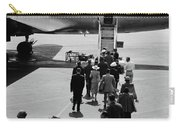 1950s Airplane Boarding Passengers Carry-all Pouch by Vintage Images