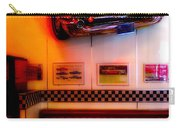 1950s American Diner - Featured In Vehicle Enthusiasts Carry-all Pouch