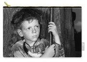 1950s Boy Wearing Raccoon Skin Hat Carry-all Pouch
