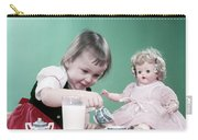 1950s Little Girl Toddler And Baby Doll Carry-all Pouch