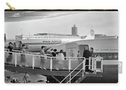 1950s Men And Women Walking Down Ramp Carry-all Pouch by Vintage Images