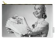 1950s Proud Smiling Woman Housewife Carry-all Pouch