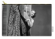 1950s Woman Peeking From Behind Screen Carry-all Pouch