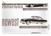 1951 - Kaiser Frazer Manhattan Automobile Advertisement - Color Carry-all Pouch
