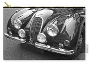 1951 Jaguar Xk120 In Black And White Carry-all Pouch