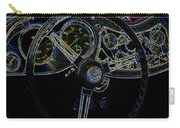1951 Mg Td Dashboard_neon Car Art Carry-all Pouch