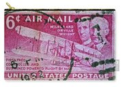 1952 Wright Brothers Stamp Carry-all Pouch