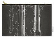 1953 Aerial Missile Patent Gray Carry-all Pouch by Nikki Marie Smith