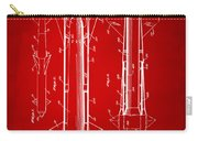 1953 Aerial Missile Patent Red Carry-all Pouch by Nikki Marie Smith