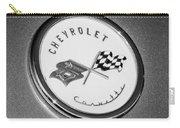 1954 Chevrolet Corvette Emblem -052bw Carry-all Pouch
