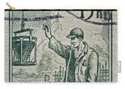 1954 Czechoslovakian Construction Worker Stamp Carry-all Pouch