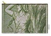 1954 Czechoslovakian Farm Woman Stamp Carry-all Pouch