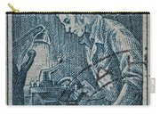 1954 Czechoslovakian Lathe Operator Stamp Carry-all Pouch