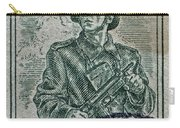 1954 Czechoslovakian Soldier Stamp Carry-all Pouch