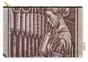 1954 Czechoslovakian Textile Worker Stamp Carry-all Pouch