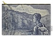1954 Mount Aspiring New Zealand Stamp Carry-all Pouch