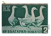 1955 Bulgarian Geese Stamp Carry-all Pouch