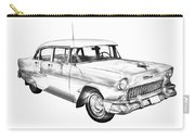 1955 Chevrolet Bel Air Illustration Carry-all Pouch