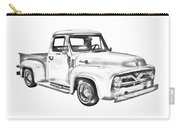 1955 F100 Ford Pickup Truck Illustration Carry-all Pouch