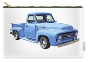 1955 Ford F100 Blue Pickup Truck Canvas Carry-all Pouch