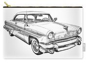 1955 Lincoln Capri Luxury Car Illustration Carry-all Pouch