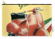 1955 - Vespa Grand Sport Motor Scooter Advertisement - Color Carry-all Pouch