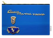 1956 Alfa Romeo Sprint Veloce Coupe Emblem Carry-all Pouch