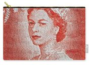1956 Queen Elizabeth New Zealand Stamp Carry-all Pouch