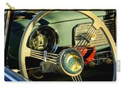 1956 Volkswagen Vw Bug Steering Wheel 2 Carry-all Pouch by Jill Reger