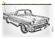 1957 Chevrolet Bel Air Convertible Illustration Carry-all Pouch