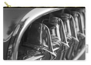 1957 Corvette Grille Black And White Carry-all Pouch by Jill Reger