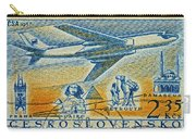 1957 Czechoslovakia Airline Stamp Carry-all Pouch