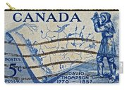1957 David Thompson Canada Stamp Carry-all Pouch