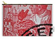 1957 German Democratic Republic Chemist Stamp Carry-all Pouch
