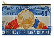 1957 Romanian Coat Of Arms And Flags Stamp Carry-all Pouch