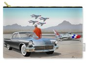 1957 Thunderbird  With F-84 Gunmetal Vintage Ford Classic Art Sketch Rendering           Carry-all Pouch