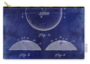 1958 Bowling Patent Drawing Blue Carry-all Pouch