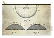 1958 Bowling Patent Drawing Carry-all Pouch